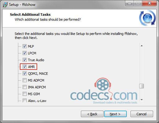 FFDShow's Audio Decoder tab