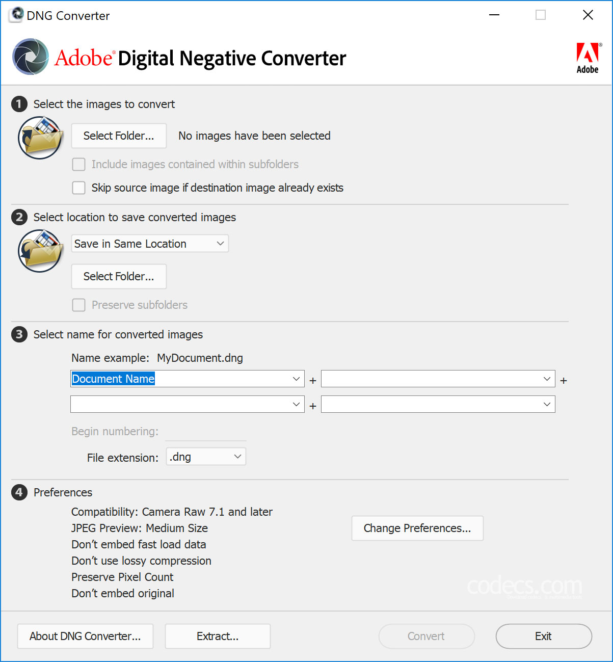 Adobe DNG Converter Free Download