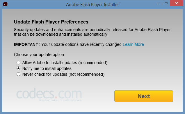 Adobe Flash Player 32.0.445 screenshot