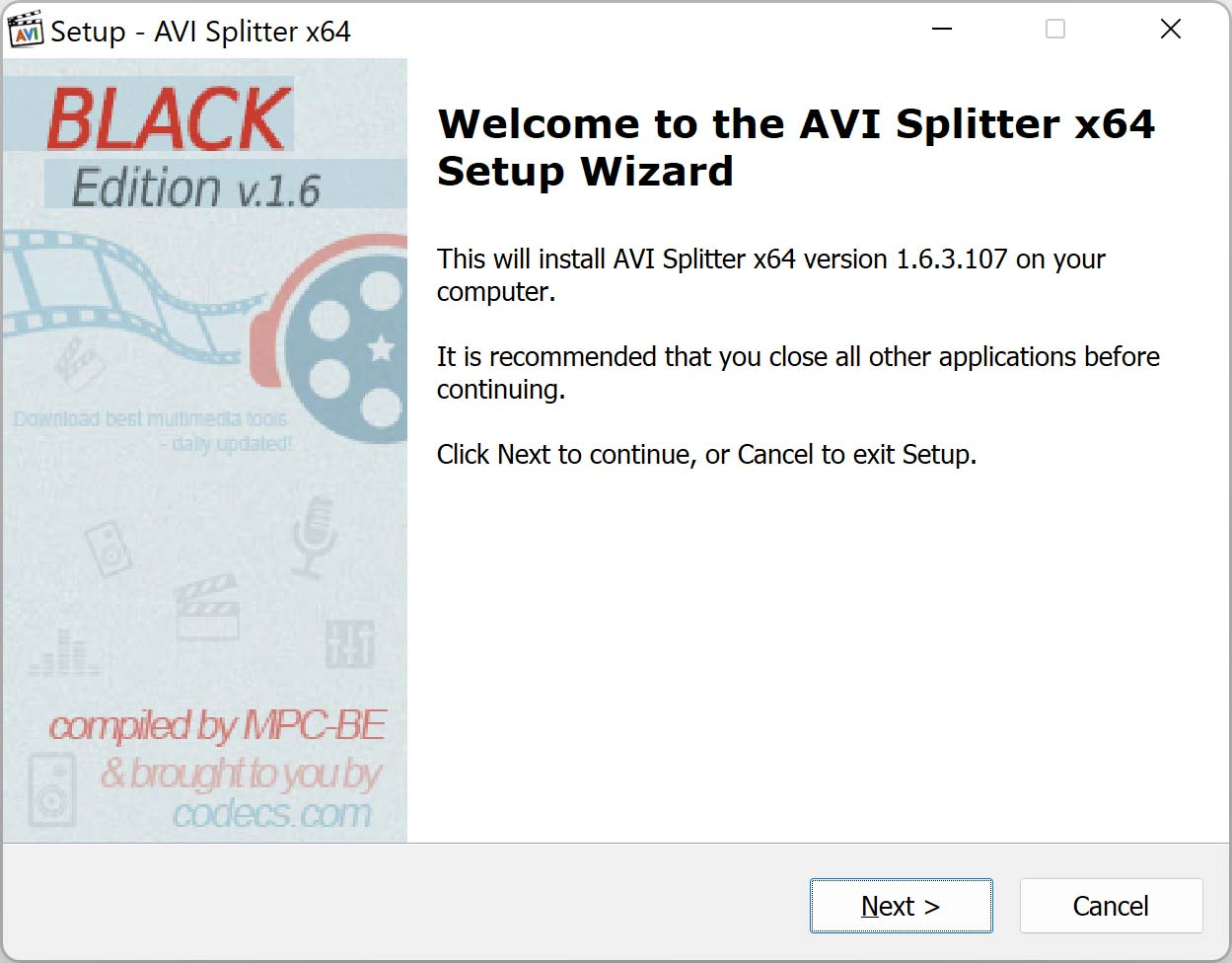 AVI Splitter 1.5.7.6045 screenshot