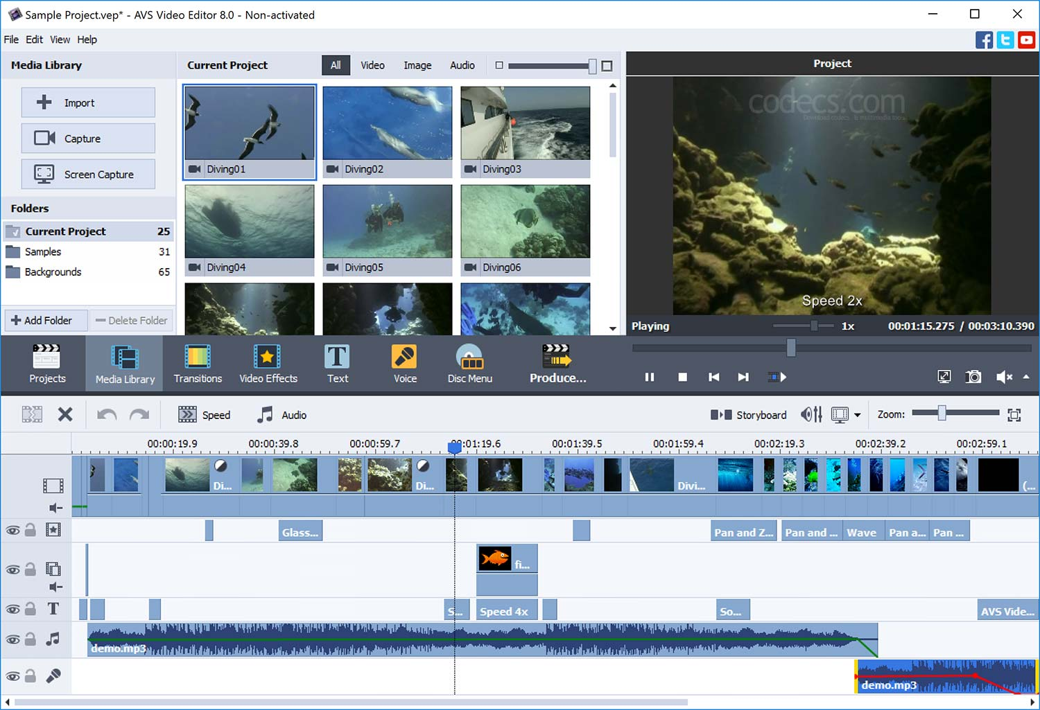 AVS Video Editor 9.0.3 screenshot