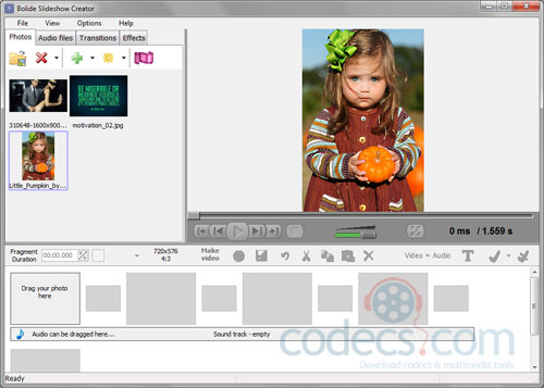 Bolide Slideshow Creator 2.2 screenshot