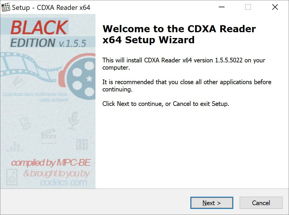 CDXA Reader 1.5.5.5022 screenshot