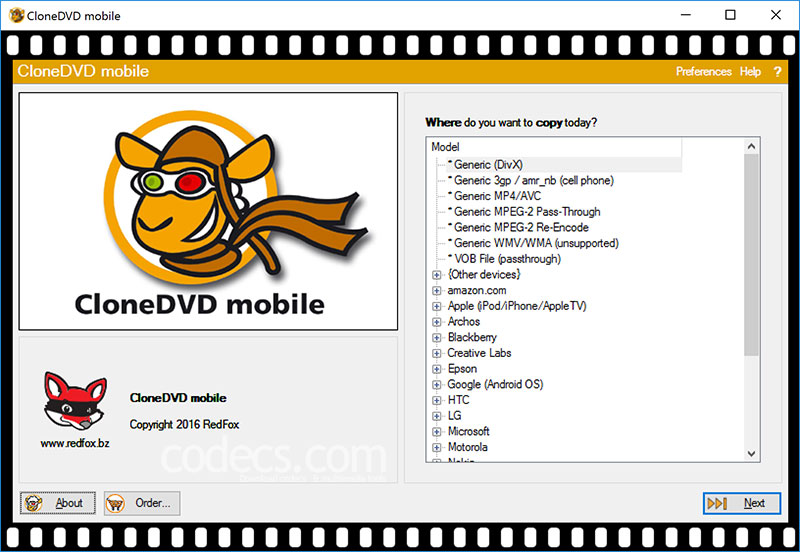 CloneDVD Mobile 1.9.5 screenshot