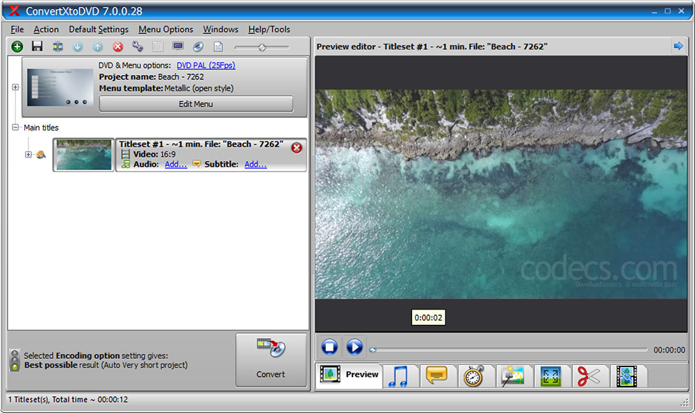 ConvertXtoDVD 7.0.74 beta screenshot
