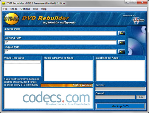 DVD Rebuilder 0.98.2 Free screenshot