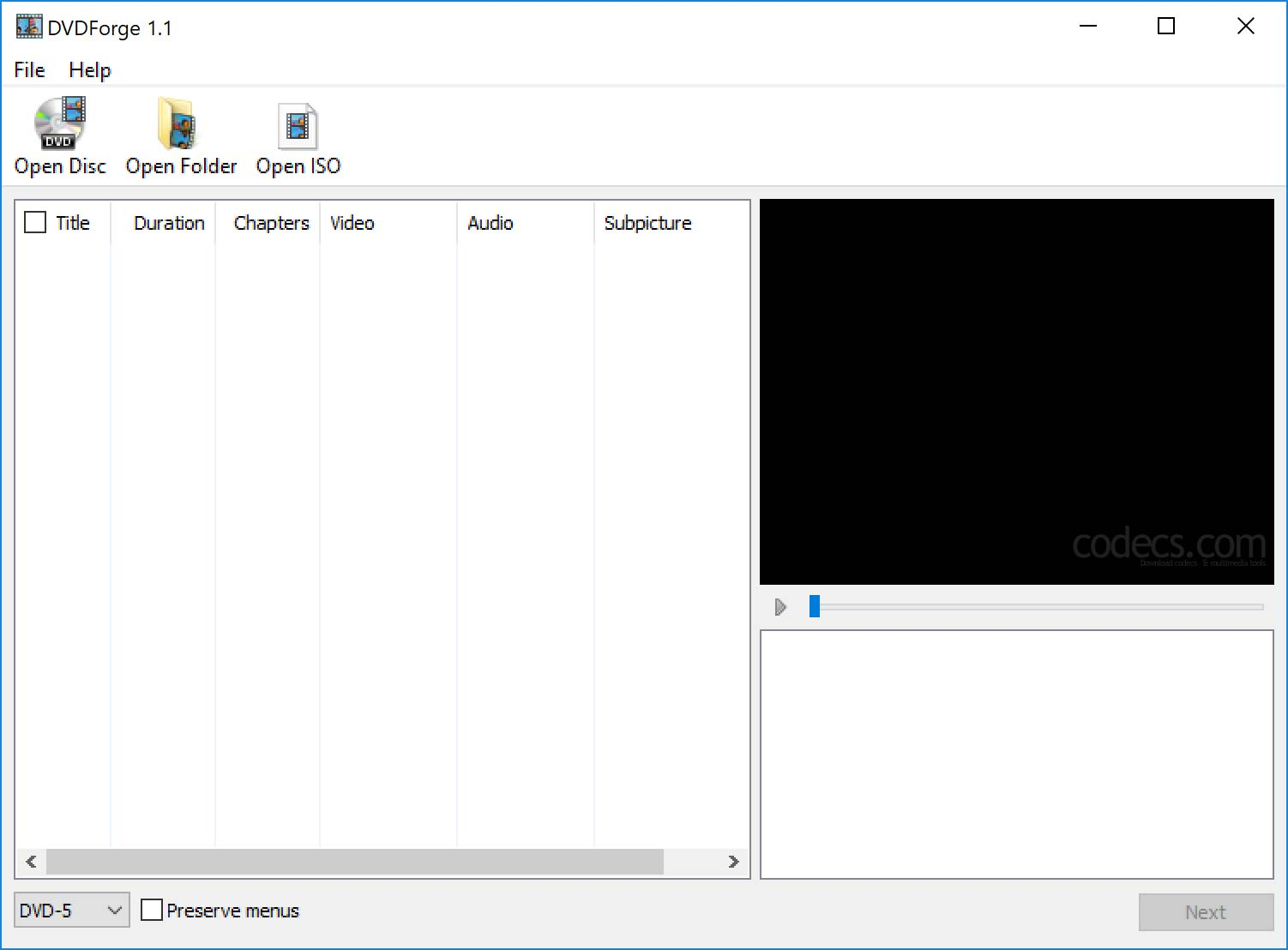 DVDForge 1.3 screenshot