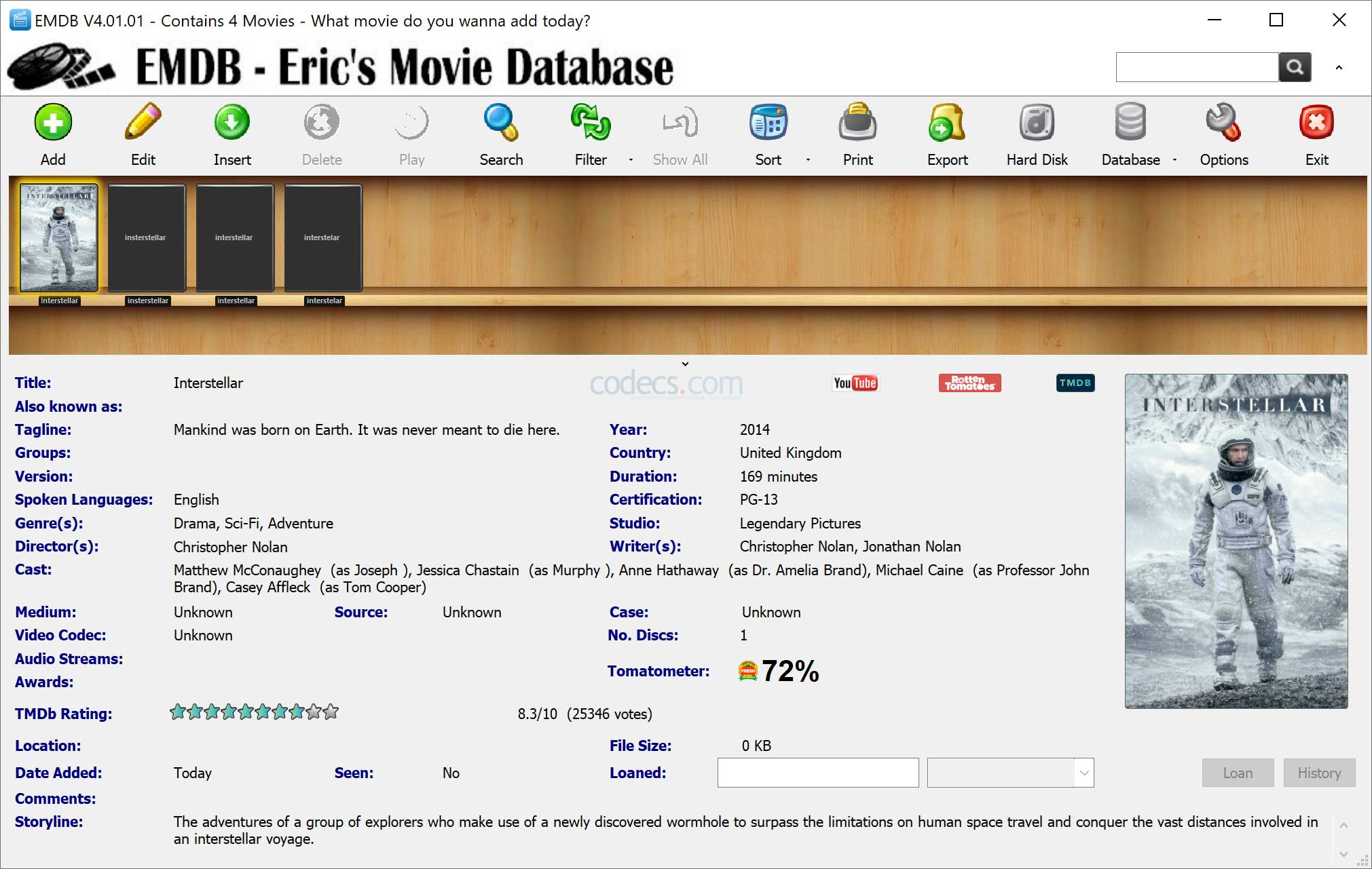 EMDB 3.70 screenshot