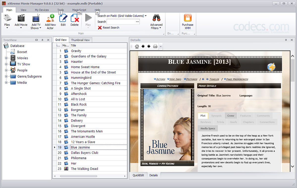 eXtreme Movie Manager 10.0 screenshot