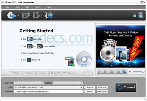free dvd video to mp3 converter