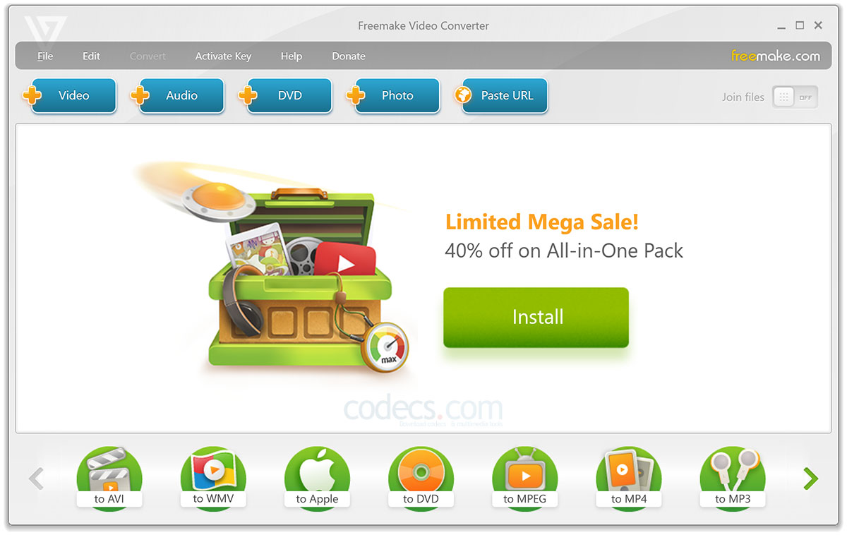 Freemake Video Converter 4.1.11.30 screenshot