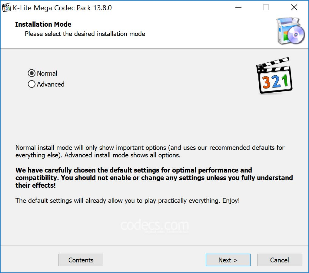 k lite codec pack install windows 10