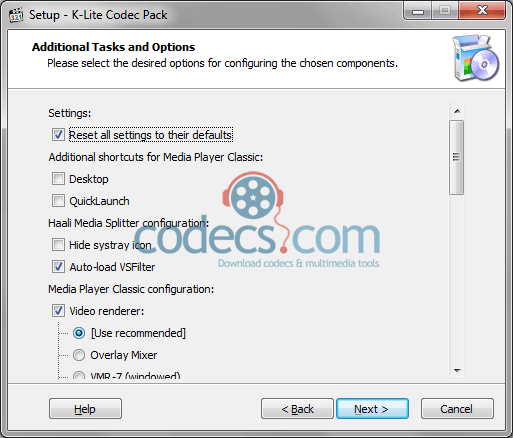 k-lite codec pack standard download