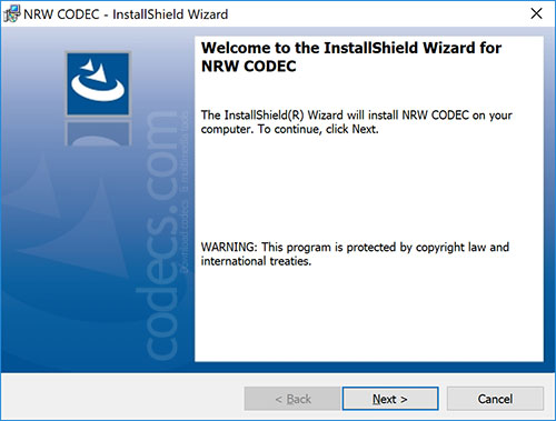 NRW Codec 1.8.1 screenshot