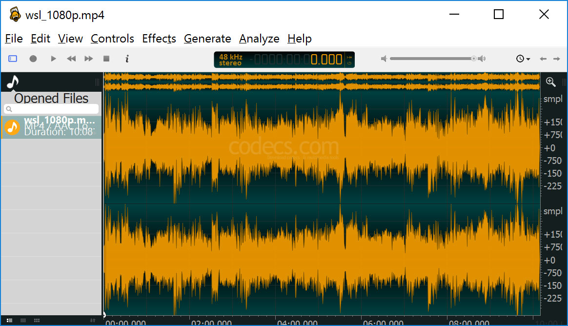 ocenaudio 3.7.16 screenshot
