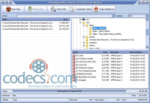 Download SilentNight Micro CD/DVD/ISO/AUDIO Burner 6 0 23