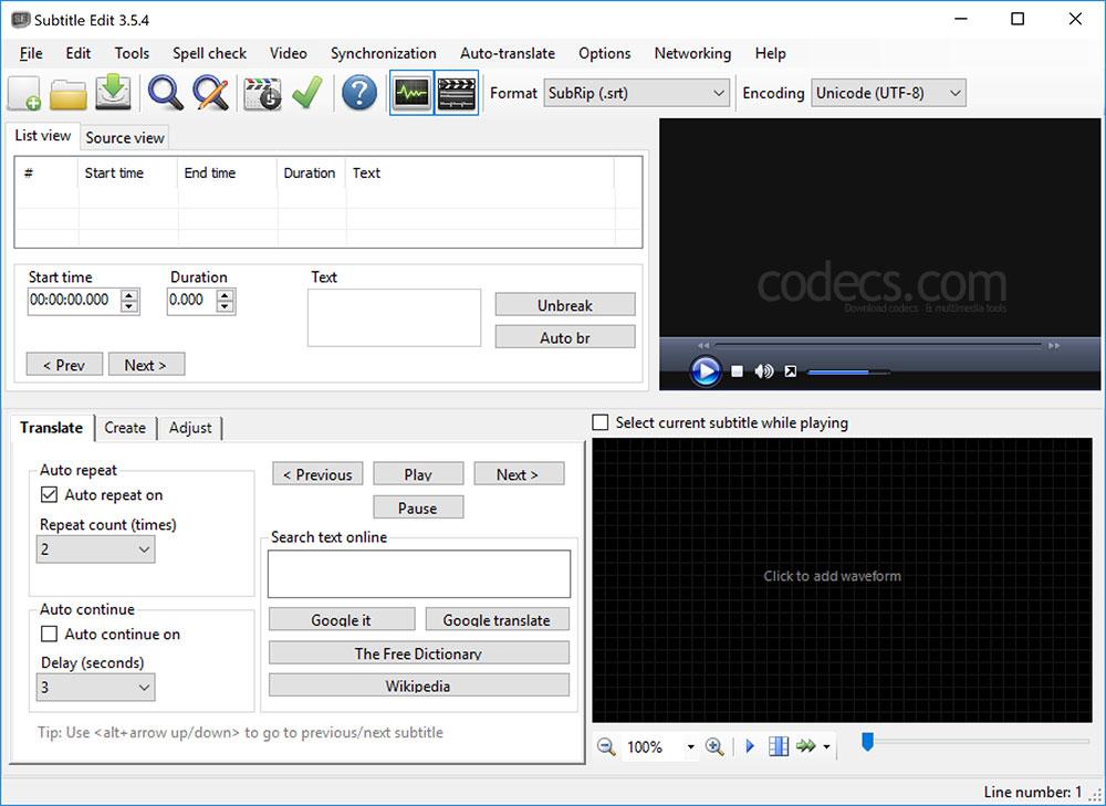Subtitle Edit 3 5 10 Free Download