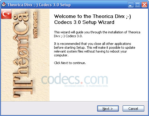 The Codecs 5.0 screenshot