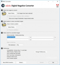 Adobe DNG Converter 12.4 screenshot