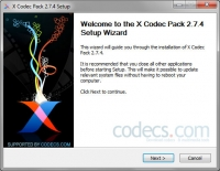 X Codec Pack 2.7.4 screenshot