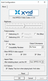 Xvid Video Codec 1.3.7 screenshot