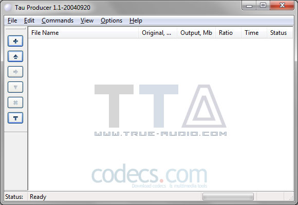 True Audio Encoder (TTA) 3.5 screenshot