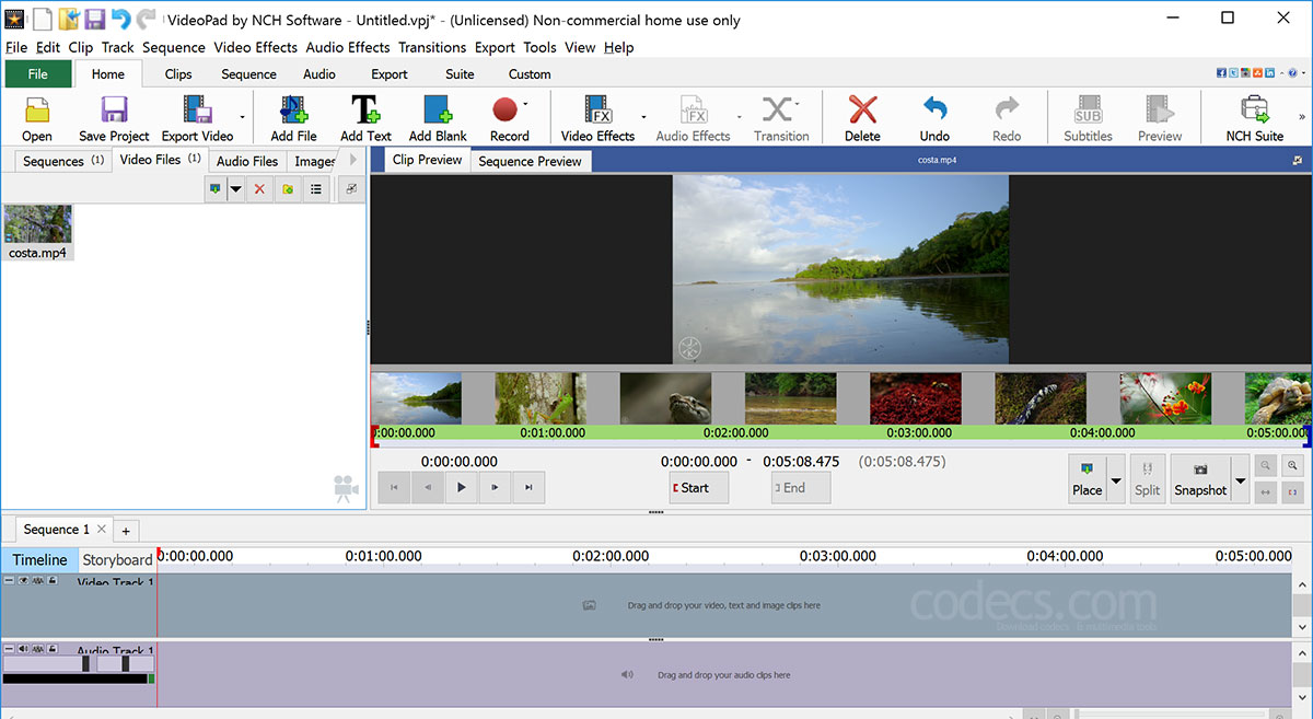VideoPad Video Editor 10.0 screenshot
