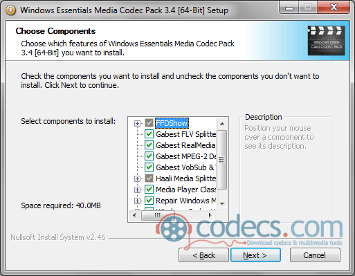 Free Download Windows Essentials Codec Pack 4 6