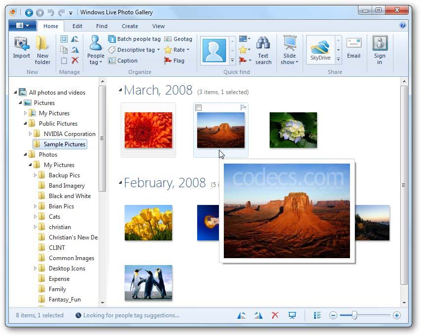 Windows Live Photo Gallery 2012 screenshot