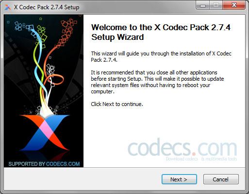 Free Download X Codec Pack 2 7 4