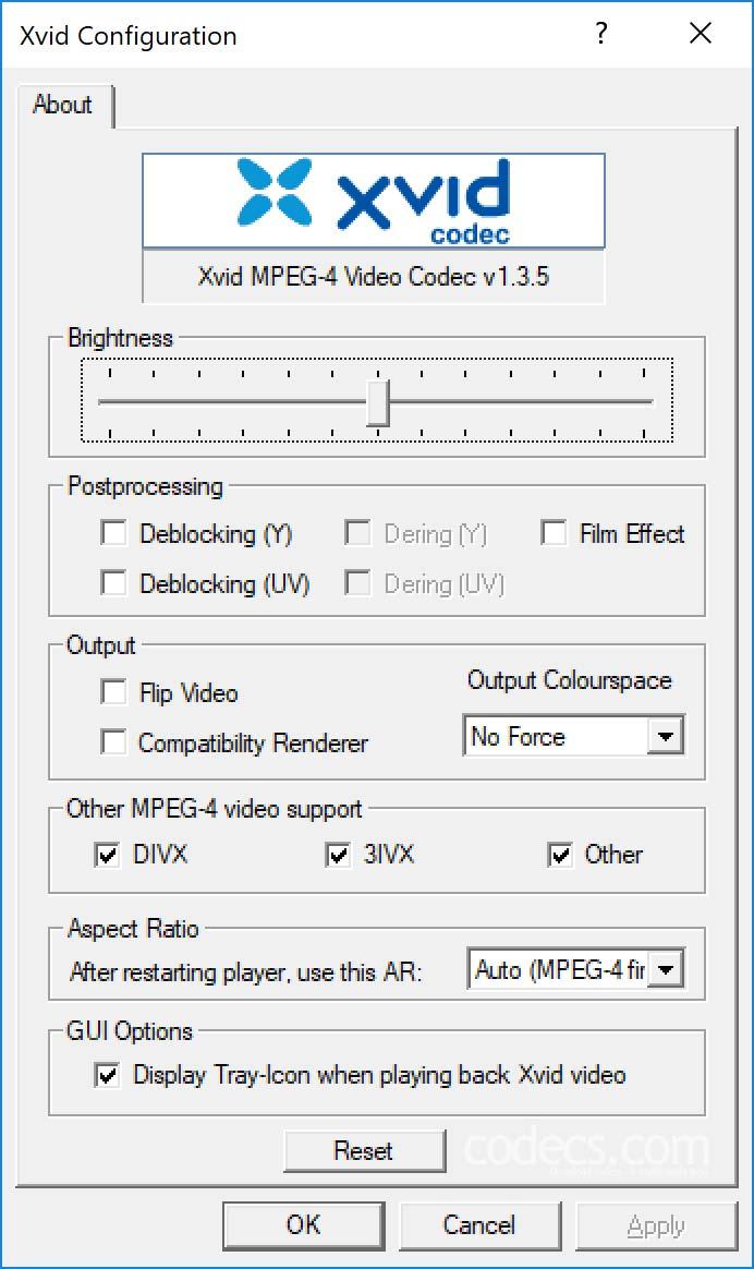 xvid video codec free download windows 10